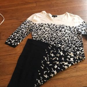 Spense black and white sweater dress